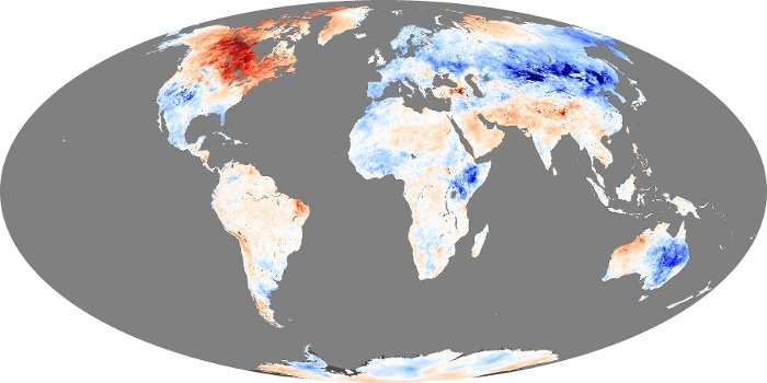 Global Map Land Surface Temperature Anomaly Image 93