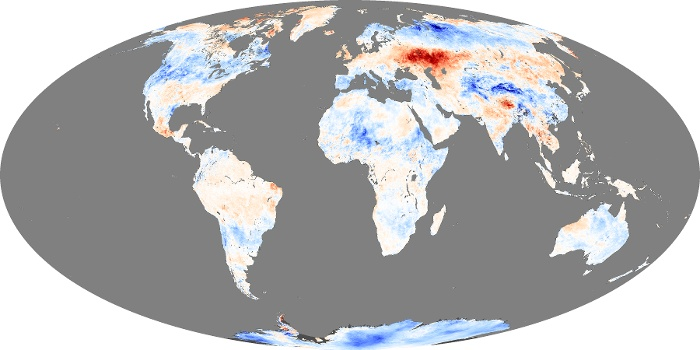 Global Map Land Surface Temperature Anomaly Image 96