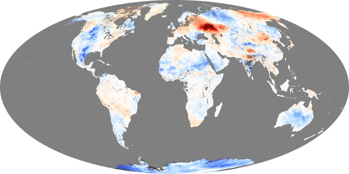 Global Map Land Surface Temperature Anomaly Image 67