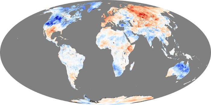 Global Map Land Surface Temperature Anomaly Image 106