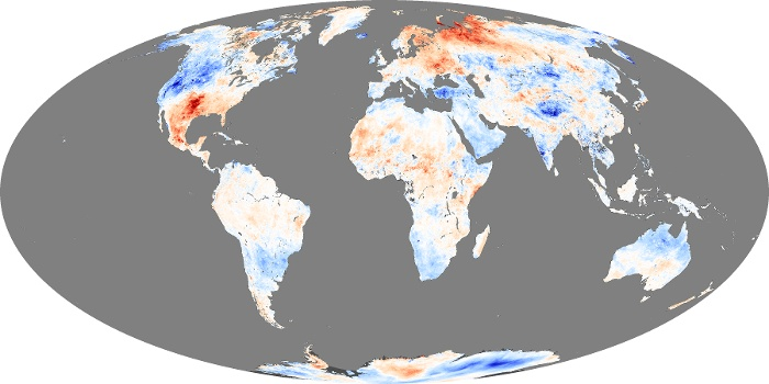 Global Map Land Surface Temperature Anomaly Image 108