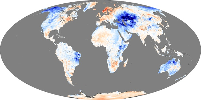 Global Map Land Surface Temperature Anomaly Image 83