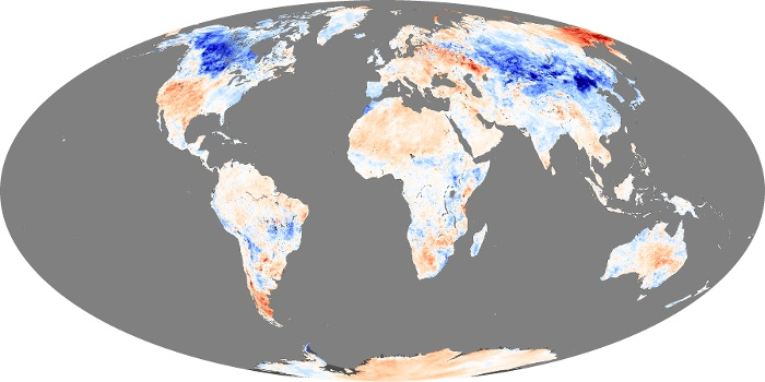 Global Map Land Surface Temperature Anomaly Image 95