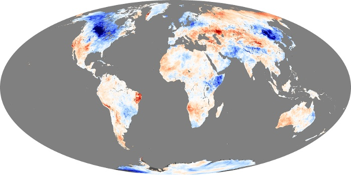 Global Map Land Surface Temperature Anomaly Image 158