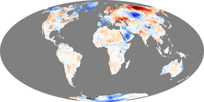 Global Map Land Surface Temperature Anomaly Image 160
