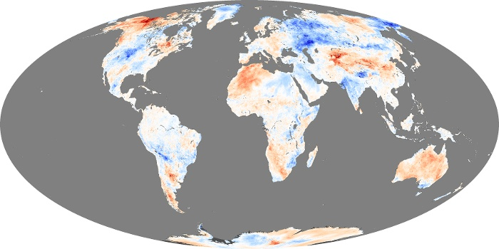 Global map temperature Oct 2013