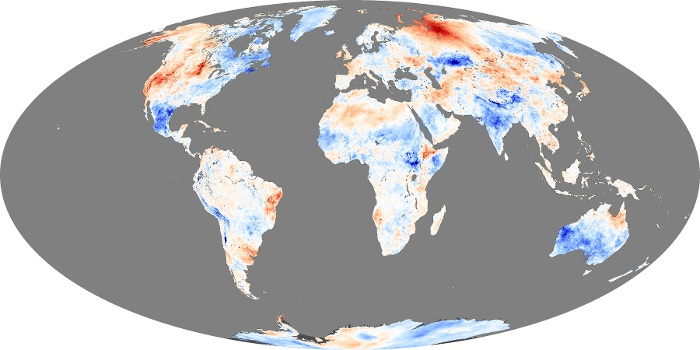 Global Map Land Surface Temperature Anomaly Image 183