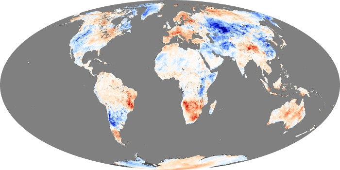 Global Map Land Surface Temperature Anomaly Image 190