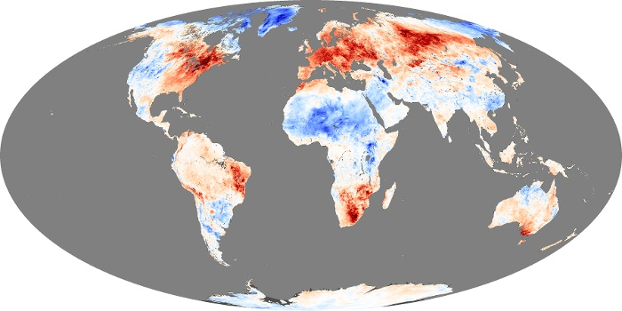 Global Map Land Surface Temperature Anomaly Image 191