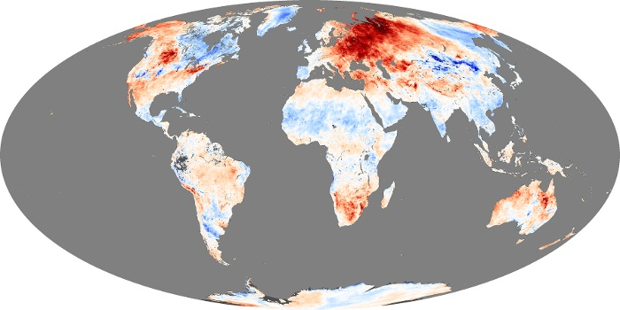 Global Map Land Surface Temperature Anomaly Image 193