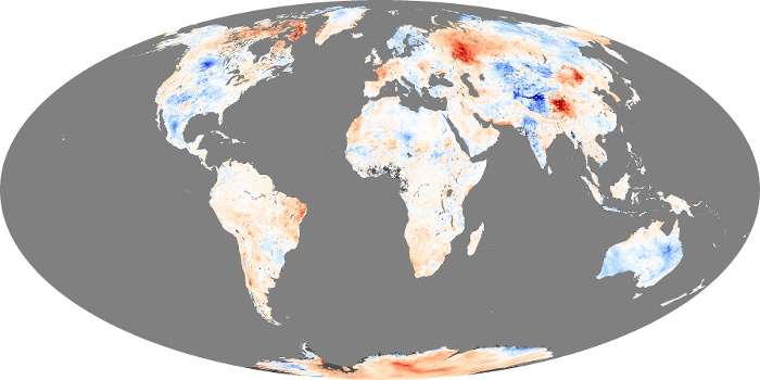 Global Map Land Surface Temperature Anomaly Image 198