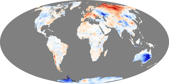Global Map Land Surface Temperature Anomaly Image 199