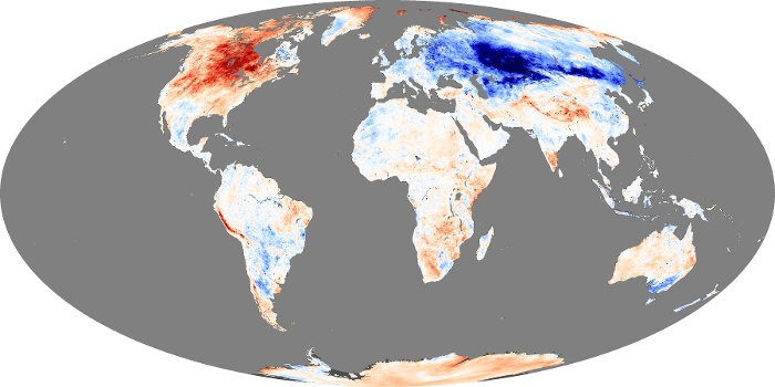 Global Map Land Surface Temperature Anomaly Image 201