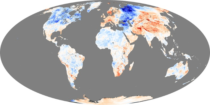 Global Map Land Surface Temperature Anomaly Image 203