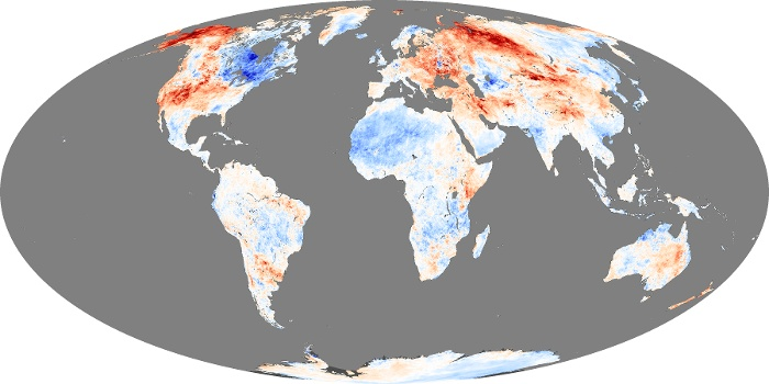 Global Map Land Surface Temperature Anomaly Image 215