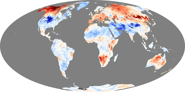 Global Map Land Surface Temperature Anomaly Image 230