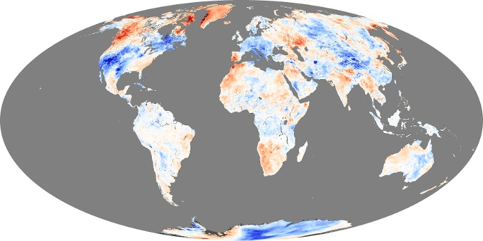 Global Map Land Surface Temperature Anomaly Image 232