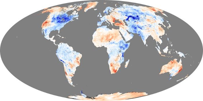 Global Map Land Surface Temperature Anomaly Image 238