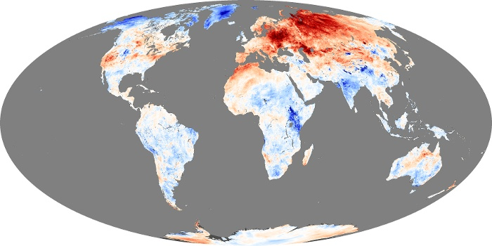 Global Map Land Surface Temperature Anomaly Image 241