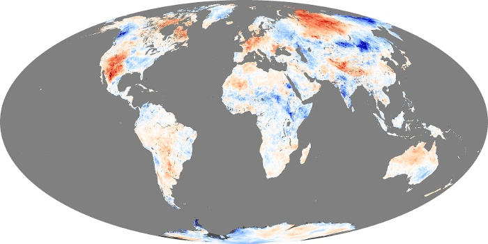 Global Map Land Surface Temperature Anomaly Image 218