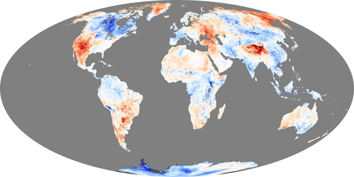 Global Map Land Surface Temperature Anomaly Image 220