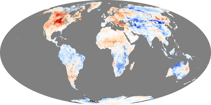 Global Map Land Surface Temperature Anomaly Image 222