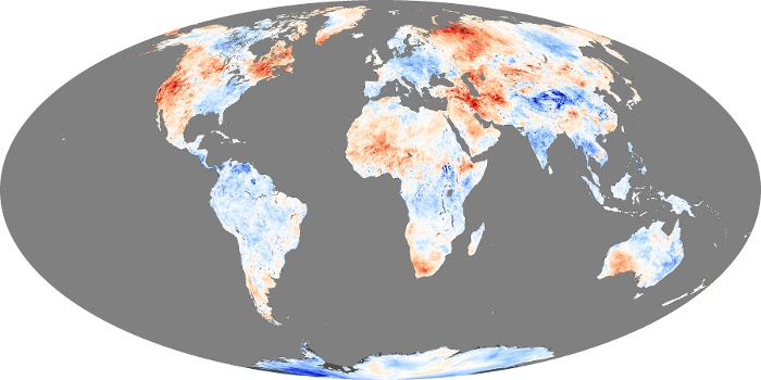 Global Map Land Surface Temperature Anomaly Image 226