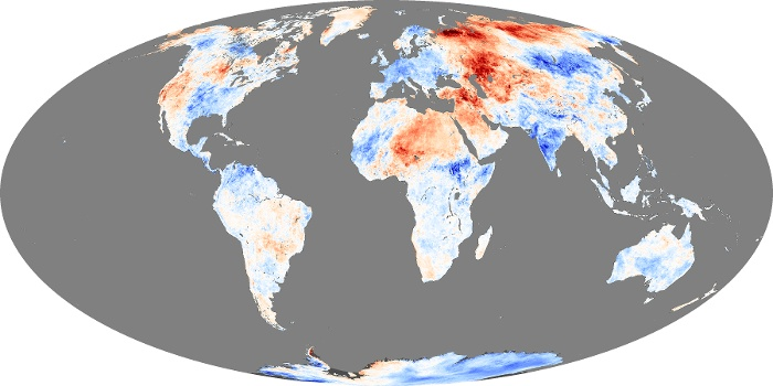 Global Map Land Surface Temperature Anomaly Image 227