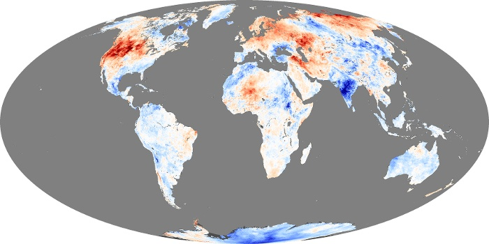 Global Map Land Surface Temperature Anomaly Image 228