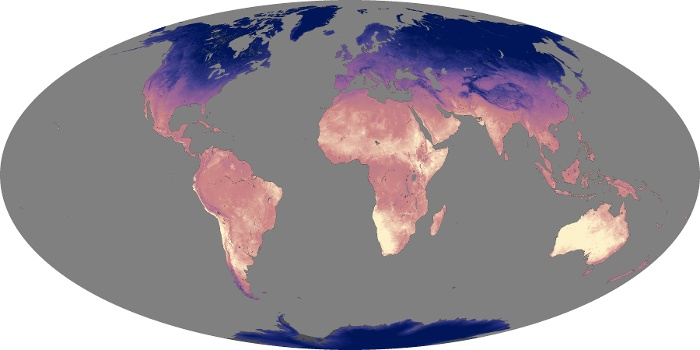 Global Map Land Surface Temperature Image 10