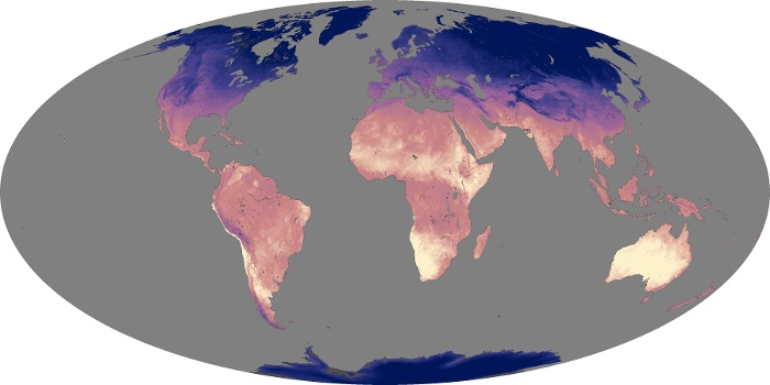 Global Map Land Surface Temperature Image 12