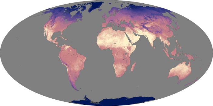 Global Map Land Surface Temperature Image 26