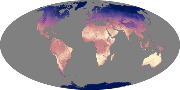 Global Map Land Surface Temperature Image 33