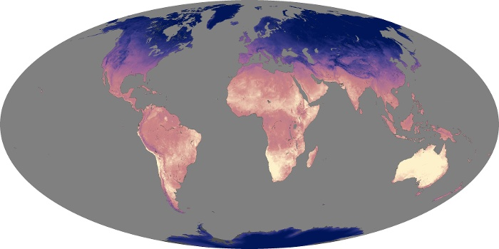 Global Map Land Surface Temperature Image 34