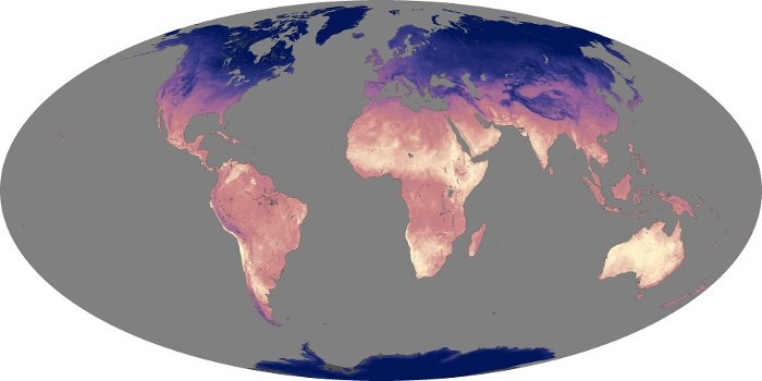 Global Map Land Surface Temperature Image 36