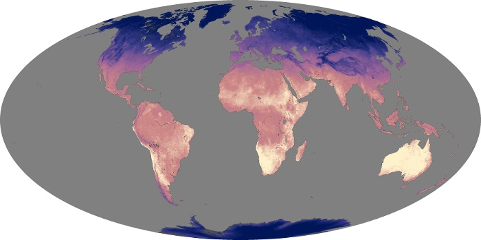 Global Map Land Surface Temperature Image 47