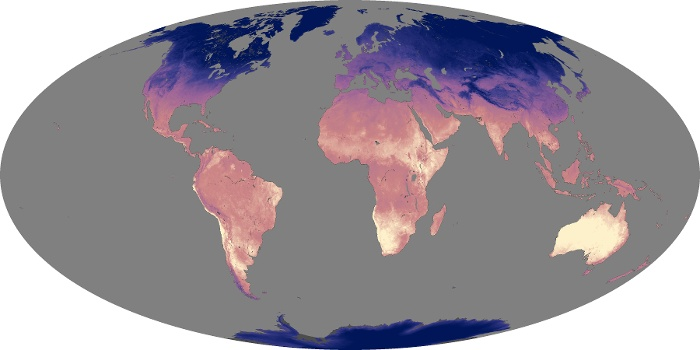 Global Map Land Surface Temperature Image 59