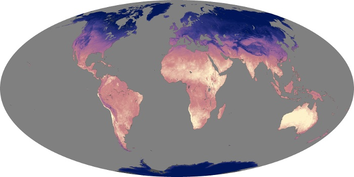 Global Map Land Surface Temperature Image 60