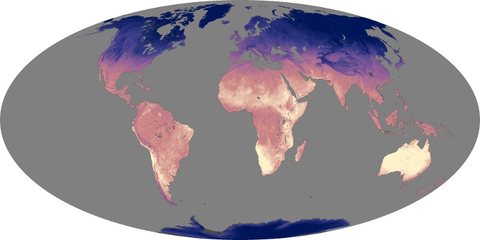 Global Map Land Surface Temperature Image 70