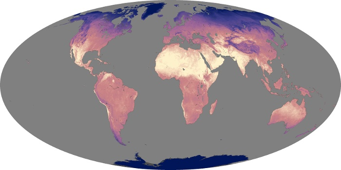 Global Map Land Surface Temperature Image 74