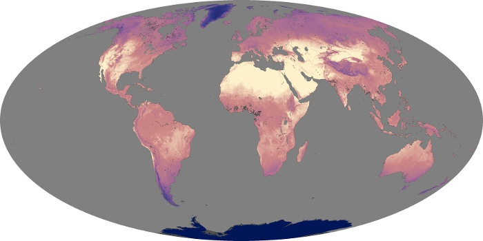 Global Map Land Surface Temperature Image 78