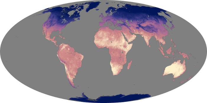 Global Map Land Surface Temperature Image 85