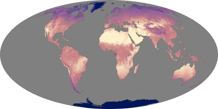 Global Map Land Surface Temperature Image 92