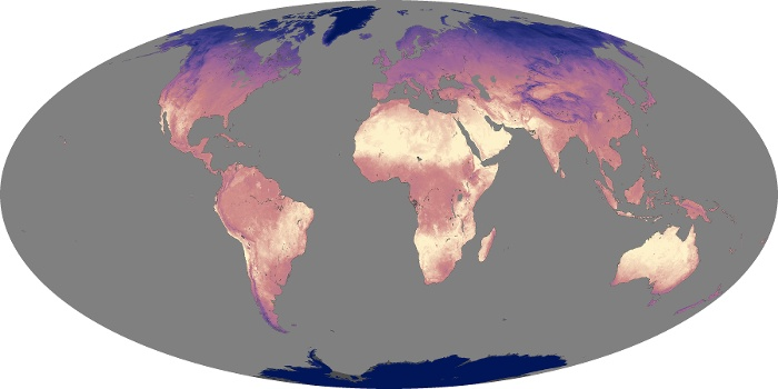 Global Map Land Surface Temperature Image 93