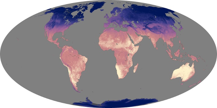 Global Map Land Surface Temperature Image 94