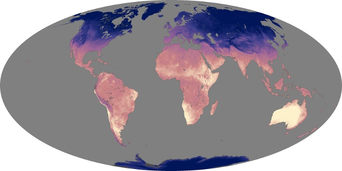 Global Map Land Surface Temperature Image 96