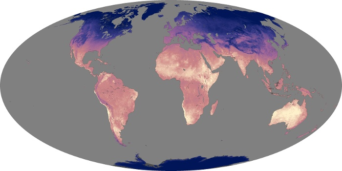 Global Map Land Surface Temperature Image 97