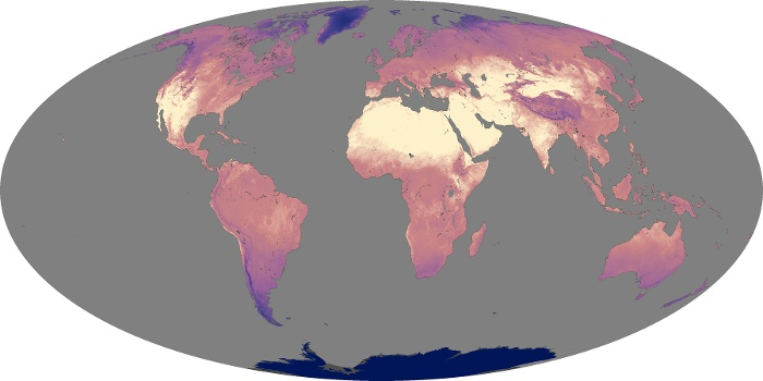 Global Map Land Surface Temperature Image 100