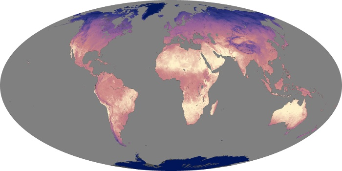Global Map Land Surface Temperature Image 104