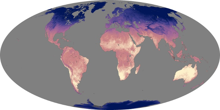 Global Map Land Surface Temperature Image 106